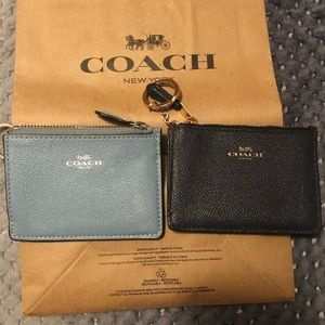 Authentic Coach keychain card holder wallet!!